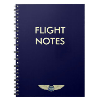 Pilot Flight Notes Spiral Notebook