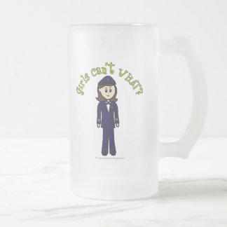 Pilot Girl Frosted Glass Mug