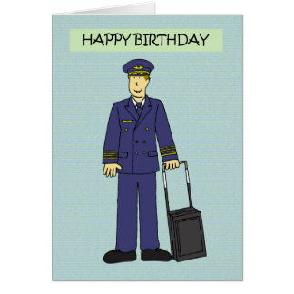 Pilot Happy Birthday. Card