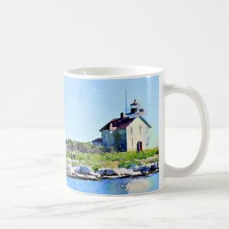 Pilot Island Lighthouse Door County Coffee Mug