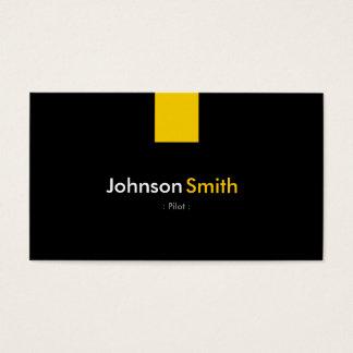 Pilot - Modern Amber Yellow Business Card