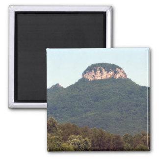Pilot Mountain Square Magnet
