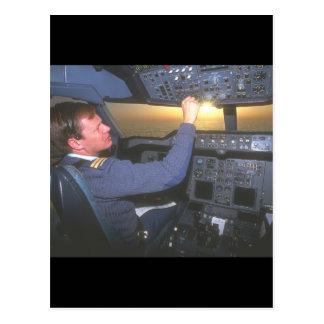 Pilot of military transport_Military Aircraft Postcard