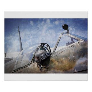 PILOT of SPITFIRE CAP and GOGGLES Poster