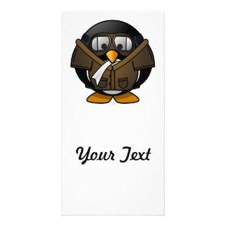 Pilot Penguin Custom Photo Card