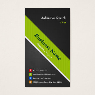 Pilot - Premium Black and Green Business Card