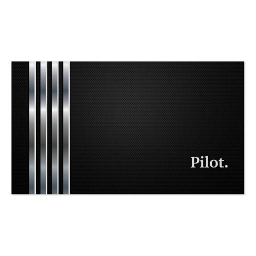 Pilot Professional Black Silver Business Cards