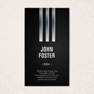 Pilot - Steel Metal Look Business Card