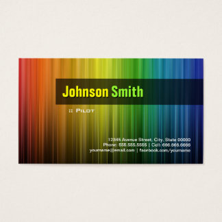Pilot - Stylish Rainbow Colors Business Card