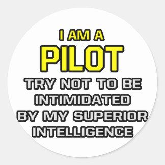 Pilot...Superior Intelligence Round Stickers