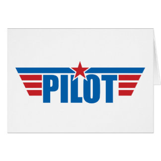 Pilot Wings Badge - Aviation Greeting Card
