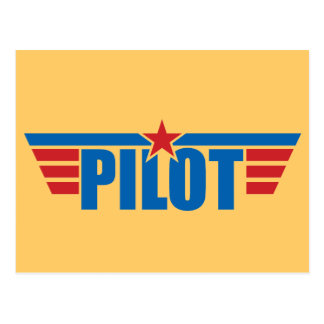 Pilot Wings Badge - Aviation Post Cards