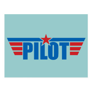 Pilot Wings Badge - Aviation Postcards