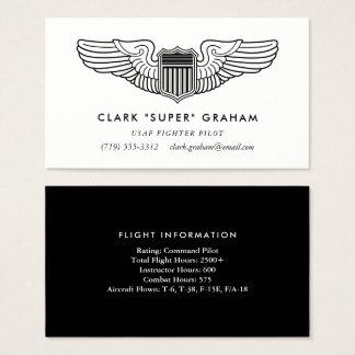 Pilot Wings Professional Aviator Business Card