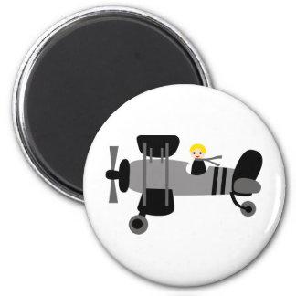 PilotBlack3 6 Cm Round Magnet