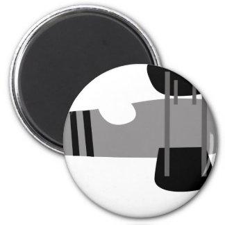 PilotBlack4 6 Cm Round Magnet