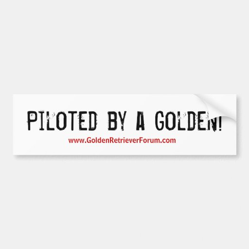 Piloted by a Golden! Bumper Stickers