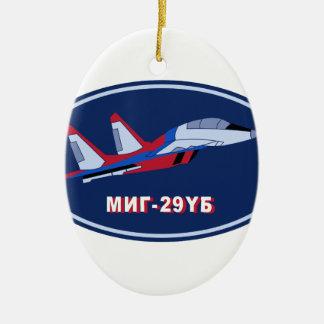 Piloten Ausbildungsabzeichen auf MIG 29 UB Trainer Christmas Tree Ornament