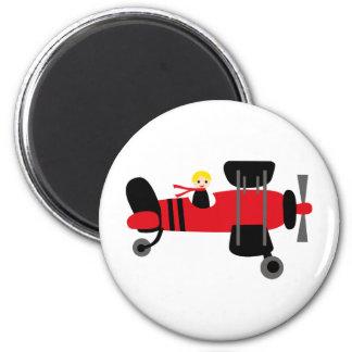 PilotRed4 6 Cm Round Magnet
