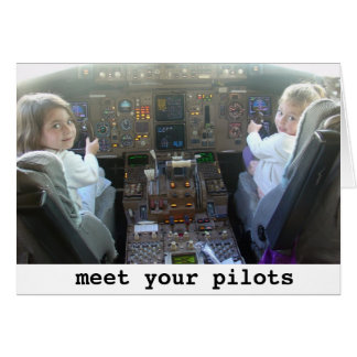 Pilots are getting younger greeting card