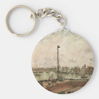 Pilot's Jetty, Le Havre, Morning; Camille Pissarro Keychains