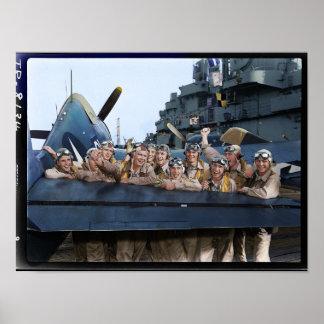 Pilots of USS Lexington CV16 Poster
