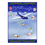 Pilot's Photo Christmas Holiday Card Set 13 Cm X 18 Cm Invitation Card