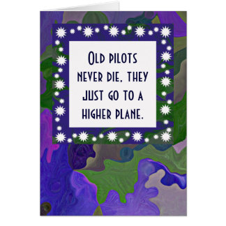 pilots retirement card