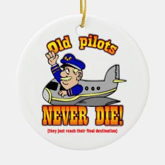 Pilots Round Ceramic Decoration