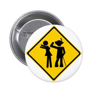 Pimp Backhand Road Sign Pinback Buttons