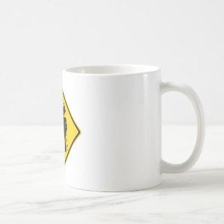 Pimp Backhand Road Sign Basic White Mug