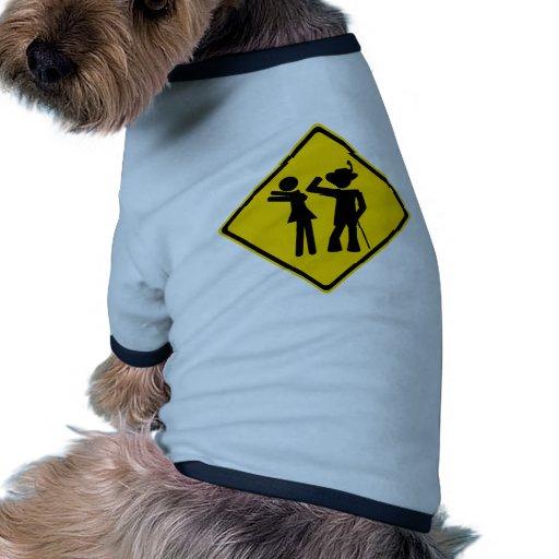 Pimp Backhand Road Sign Doggie T Shirt