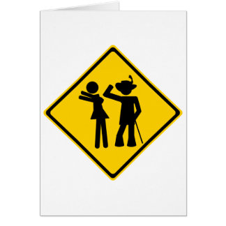 Pimp Backhand Road Sign Greeting Card