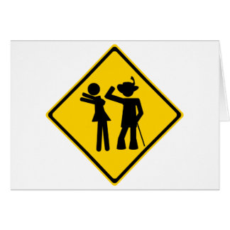 Pimp Backhand Road Sign Greeting Card