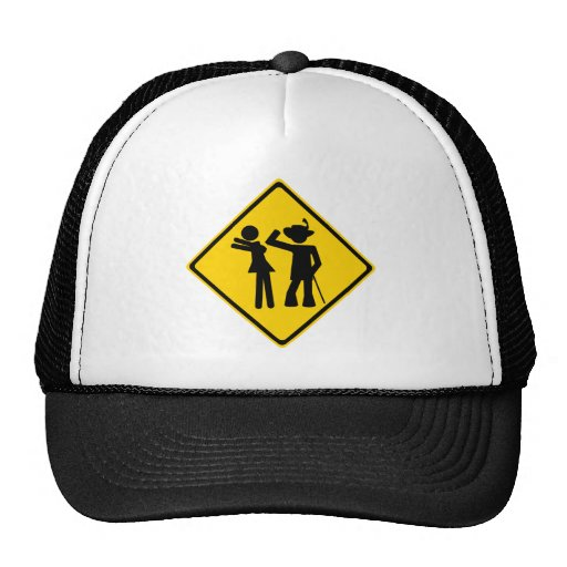 Pimp Backhand Road Sign Trucker Hats