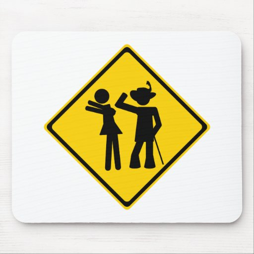 Pimp Backhand Road Sign Mouse Pad