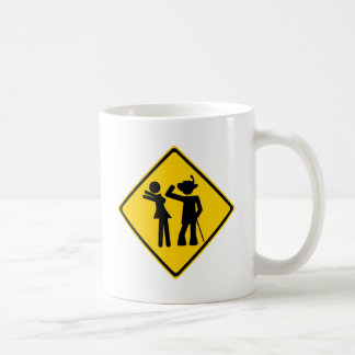 Pimp Backhand Road Sign Mugs