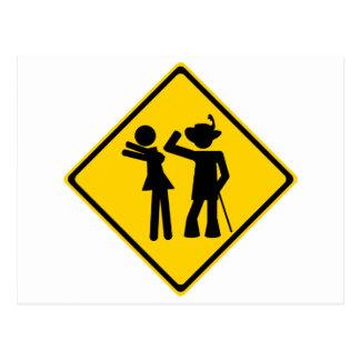 Pimp Backhand Road Sign Postcards