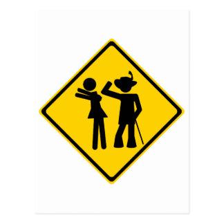 Pimp Backhand Road Sign Postcard