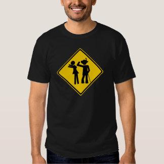 Pimp Backhand Road Sign T-shirts