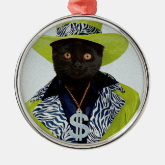 Pimp Cat Christmas Ornament