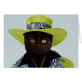 Pimp Cat Greeting Card
