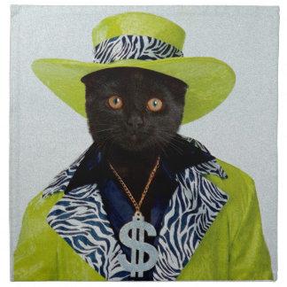 Pimp Cat Napkin