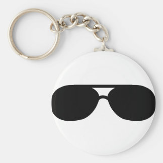 pimp sunglasses shades basic round button key ring