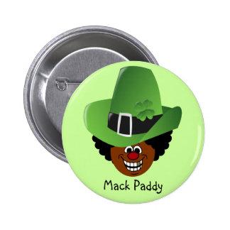 Pimped Out St. Patrick's Day Leprechaun 6 Cm Round Badge