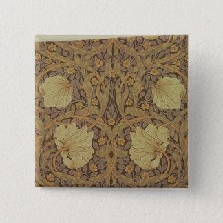 'Pimpernel' wallpaper design, 1876 15 Cm Square Badge