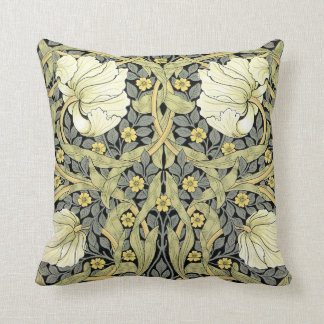 Pimpernel Yellow Green Floral Pattern Vintage Cushion