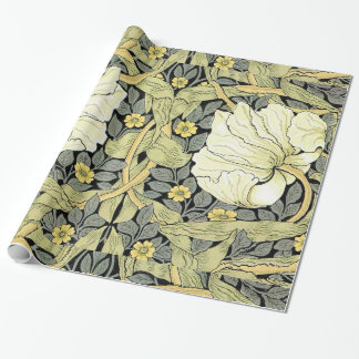Pimpernel Yellow Green Floral Pattern Vintage Wall Wrapping Paper