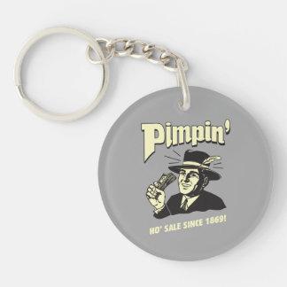 Pimpin': Ho Sale Double-Sided Round Acrylic Key Ring