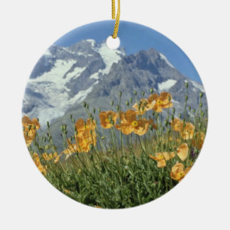 Pin Alps, France flowers Ornament